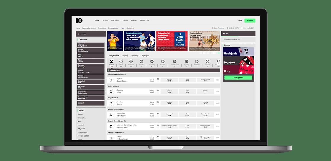 10bet sports page bettingmate.uk