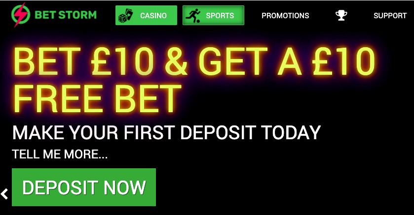 bet storm welcome offer